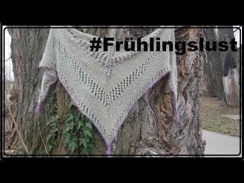 Dreieckstuch Frühlingslust Stricken - Anleitung