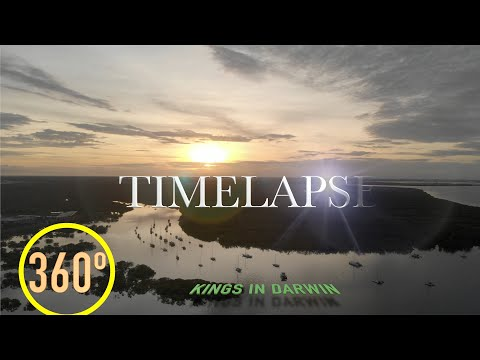 Samsung Gear 360 review Sunrise time-lapse Darwin, Australia.360 видео