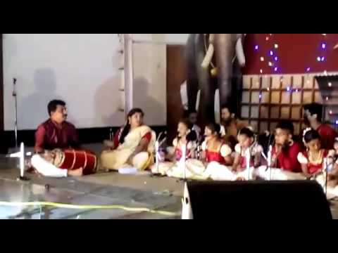 Children's performance ayyappa temple goa..Nivedya and teams....