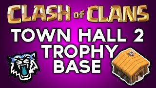 Clash Of Clans - BEST Town Hall 2 Trophy Base ( th2 ) !! Speed Build 2014