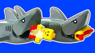 LEGO Ships Subs Sinking Floating Shipwreck Tsunami Storms & Shark Attack