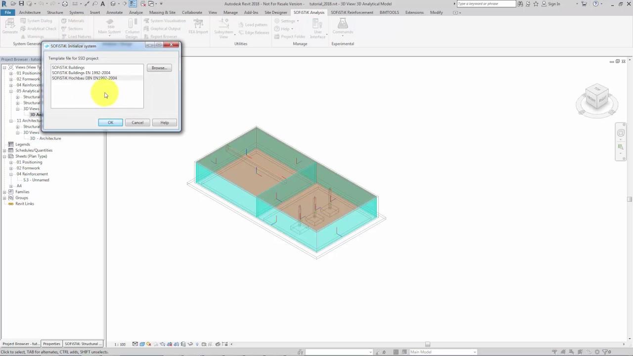 BIM - Building Design Tutorial — SOFiSTiK Tutorials 2018