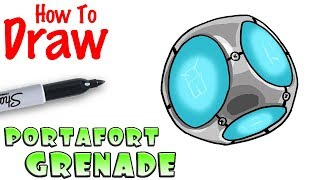 How to Draw Port-A-Fort Grenade   Fortnite