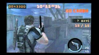 Biohazard The Mercenaries 3D MISSION LEVEL 4-5 SOLO 1,277,285 Chris