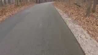 Roller Ski Downhills On Our Wi Kettle Moraine Routes. Dorky, But 30mph Feels Like 60mph On These.