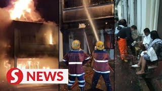 One killed, one missing, three hurt in Lebuh Melaka morning fire