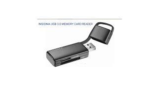 Insignla USB 3 0 Memory Card Reader Unboxing