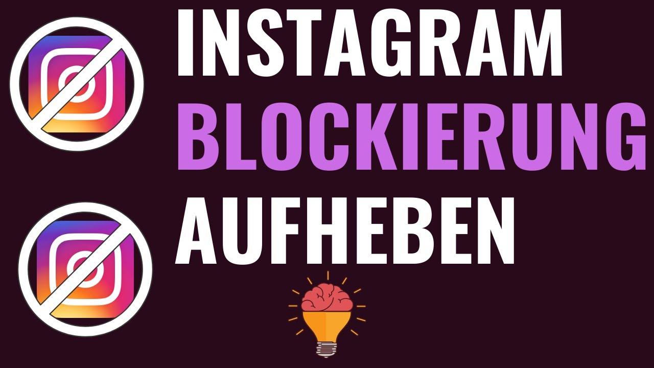 Wer hat blockieren blockiert instagram mich Er hat