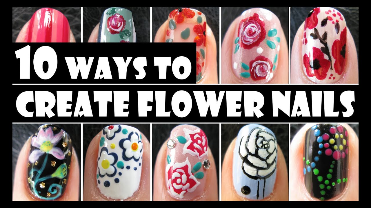 Flower nail art compilation 10 ways to create flower nails flower nail art compilation 10 ways to create flower nails summer how to basics meliney prinsesfo Gallery