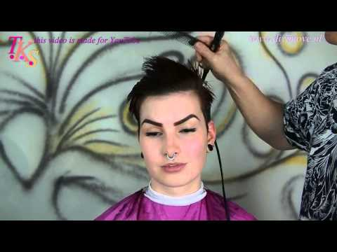 Cut my long Bob into a Pixie hairstyle! Make over of Natasja by T.K.S.