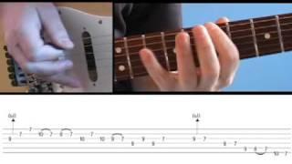 Quick Lick B minor bluesy metal lick (guitar lesson)