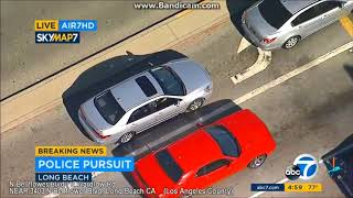 Long Beach California Police Chase stolen car