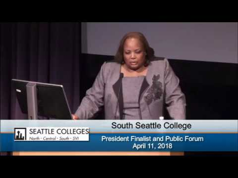 South Seattle College President Search 2018 - Candidate Dr. Chemene Crawford