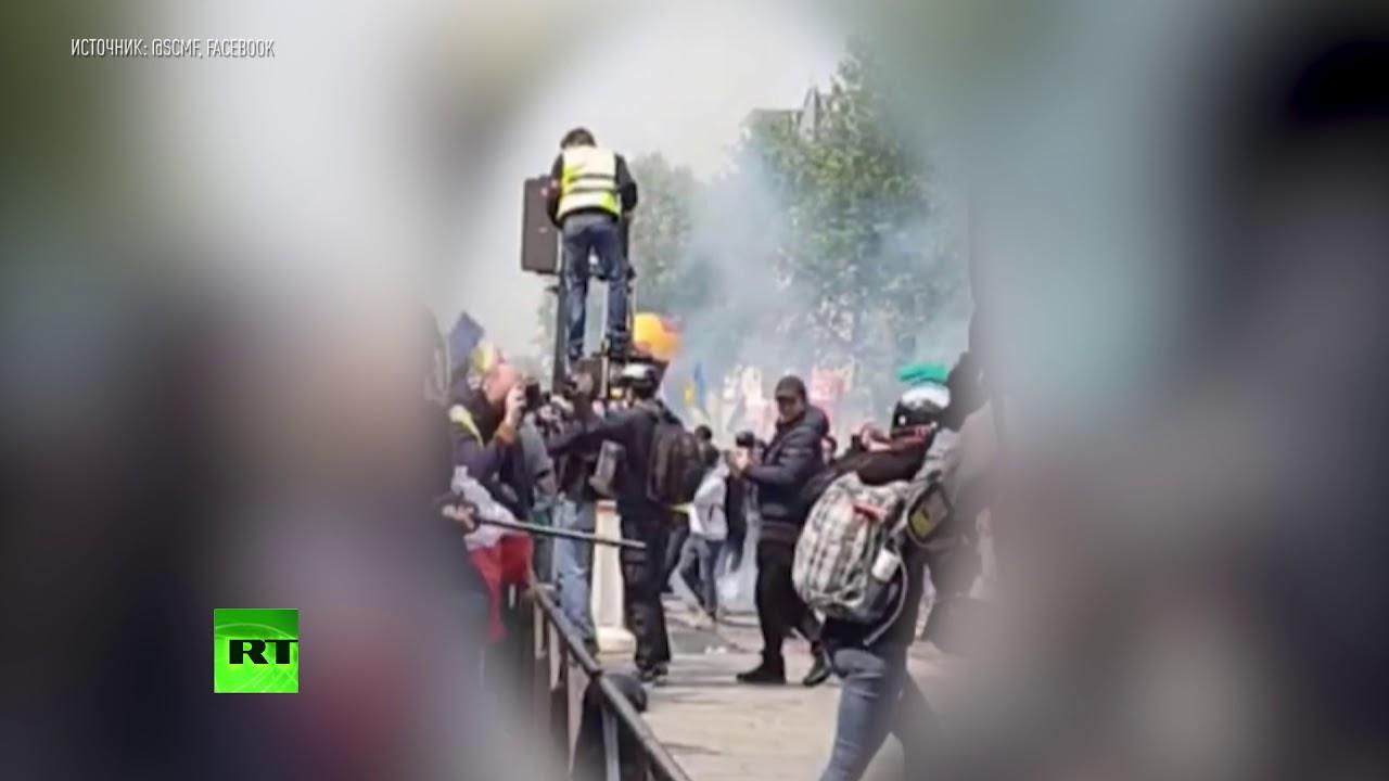 Избиение журналистки РИА Новости полицией в Париже
