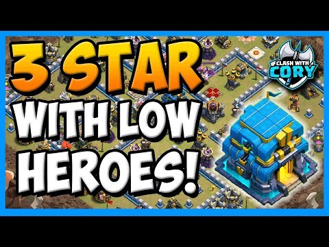 EASY 3 STAR TH12 WITH LOW LEVEL HEROES! TOWN HALL 12 ATTACK STRATEGY CLASH OF CLANS COC