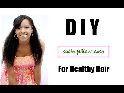 Satin Pillowcase For Hair Mesmerizing DIY Pillowcase For Healthy Hair YouTube