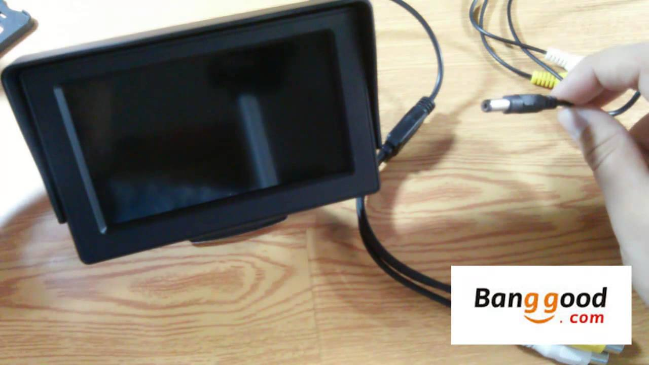 88e8edd27ba 4.3 pulgadas LCD monitor del coche retrovisor con Blacklight LED para la  cámara DVD - YouTube