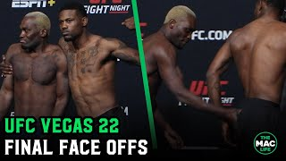 Kevin Holland asks Derek Brunson to spank him at UFC Vegas 22 Final Face Offs