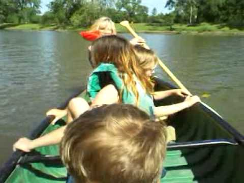 Canoeing Fun With The Kids