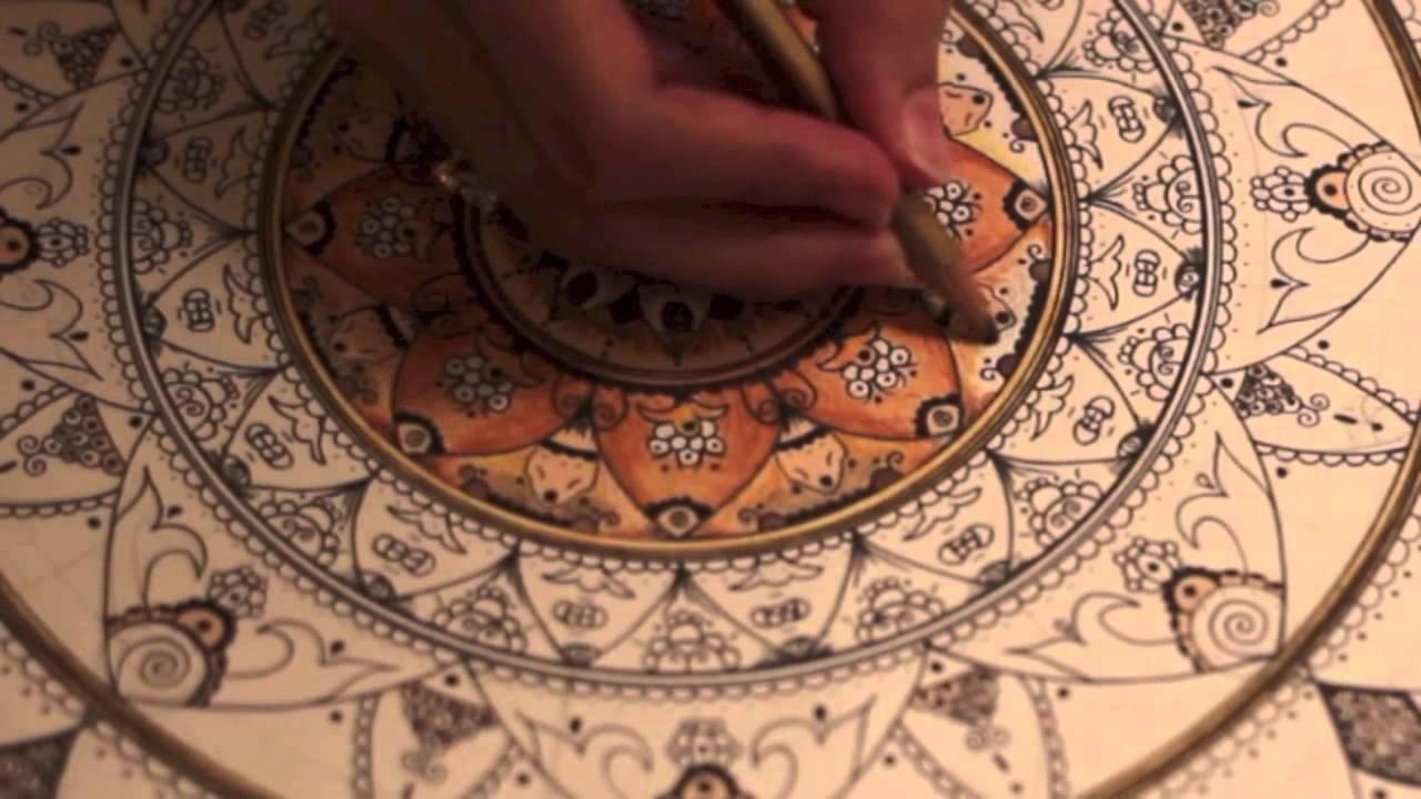 Mandala mixed with islamic patterns / short video ماندالا بأنماط ...