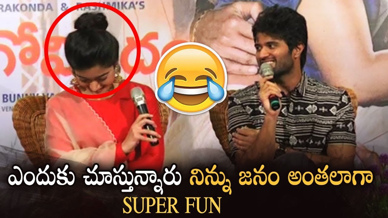 Vijay Devarakonda Hilarious Fun With Rashmika | Super Fun | Geetha Govindam | Manastars