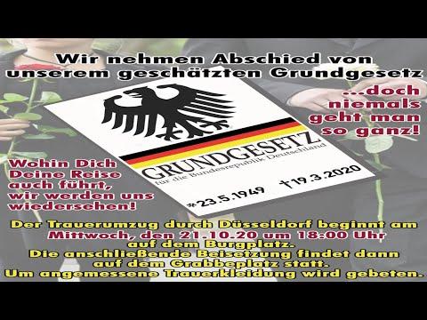 21.10.2020 Düsseldorf - Beerdigung des Grundgesetzes