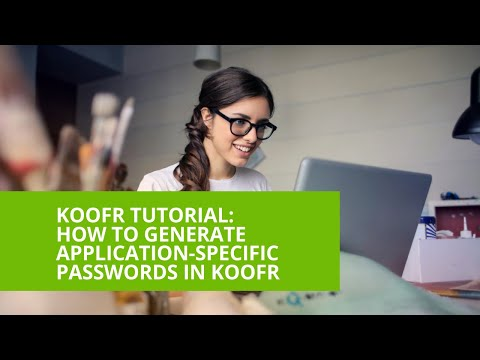 How to generate application-specific passwords in Koofr