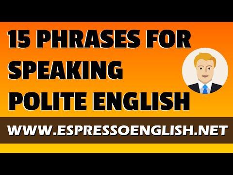 15 Phrases for Speaking Polite English