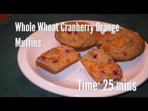 Wheat Grains Cranberry Muffins