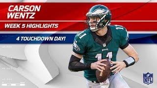 Carson Wentz's 4 TD Day vs. Arizona!   Cardinals vs. Eagles   Wk 5 Player Highlights
