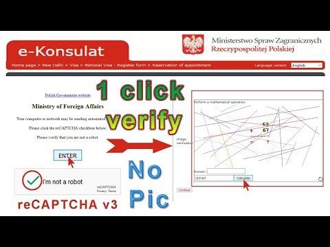 e-Konsulat 😎 google reCAPTCHA v3, i am not a robot -1 click verify