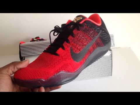 buy online 379da 030e2 Nike Kobe XI 11 Elite Low University Red Black Gold - YouTube