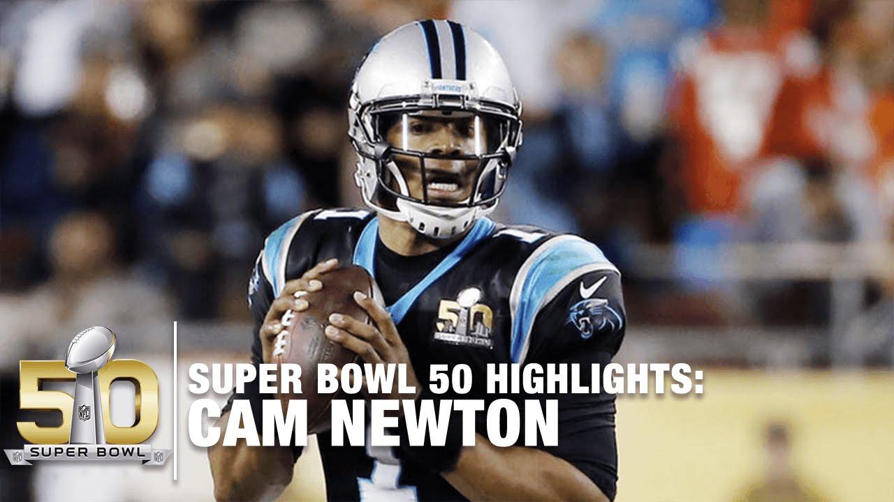 Cam Newton Super Bowl 50 Highlights  89ce4d9a0