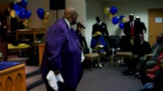 "Bishop Claude James singing "" Just My Salvation"""