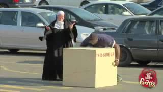 Strong Nun Prank