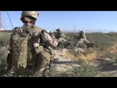 US Marine Return small arms fire and Mortars in Kajaki Afghanistan 2010