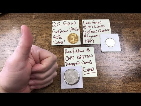 1946 Gold Plated Walking Liberty Half Dollar Livestream