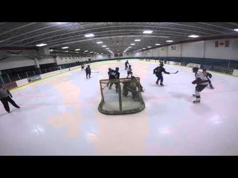 Shock vs Jets loss towards backwall Mennen Cam #2 of game Hockey North America