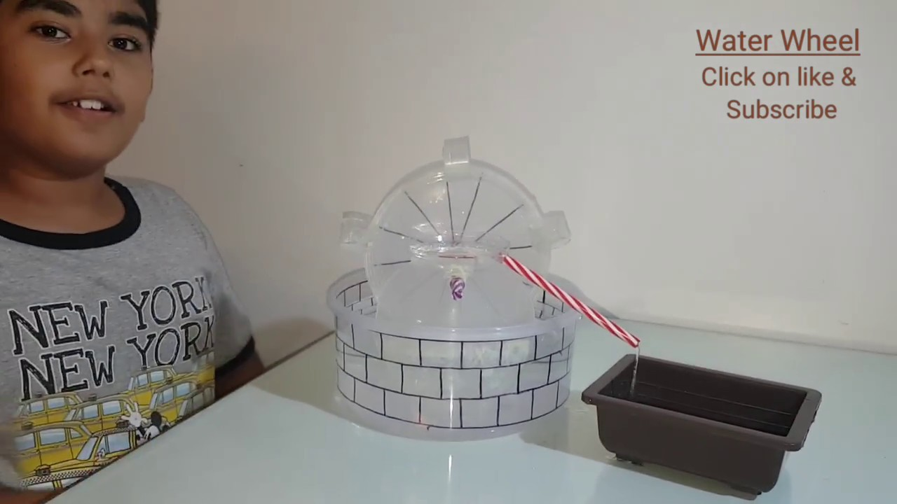 how to make water wheel at home