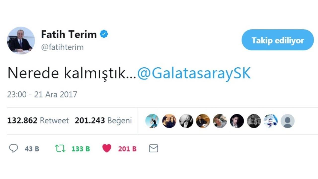 Galatasaraylı Fatih Terim yuvasına dönmüştür!