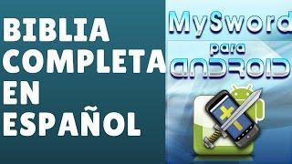 Como Instalar MySword en Español para Android. Biblia Completa con Modulos en Español