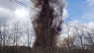On camera: Massive explosion rocks Maine paper mill