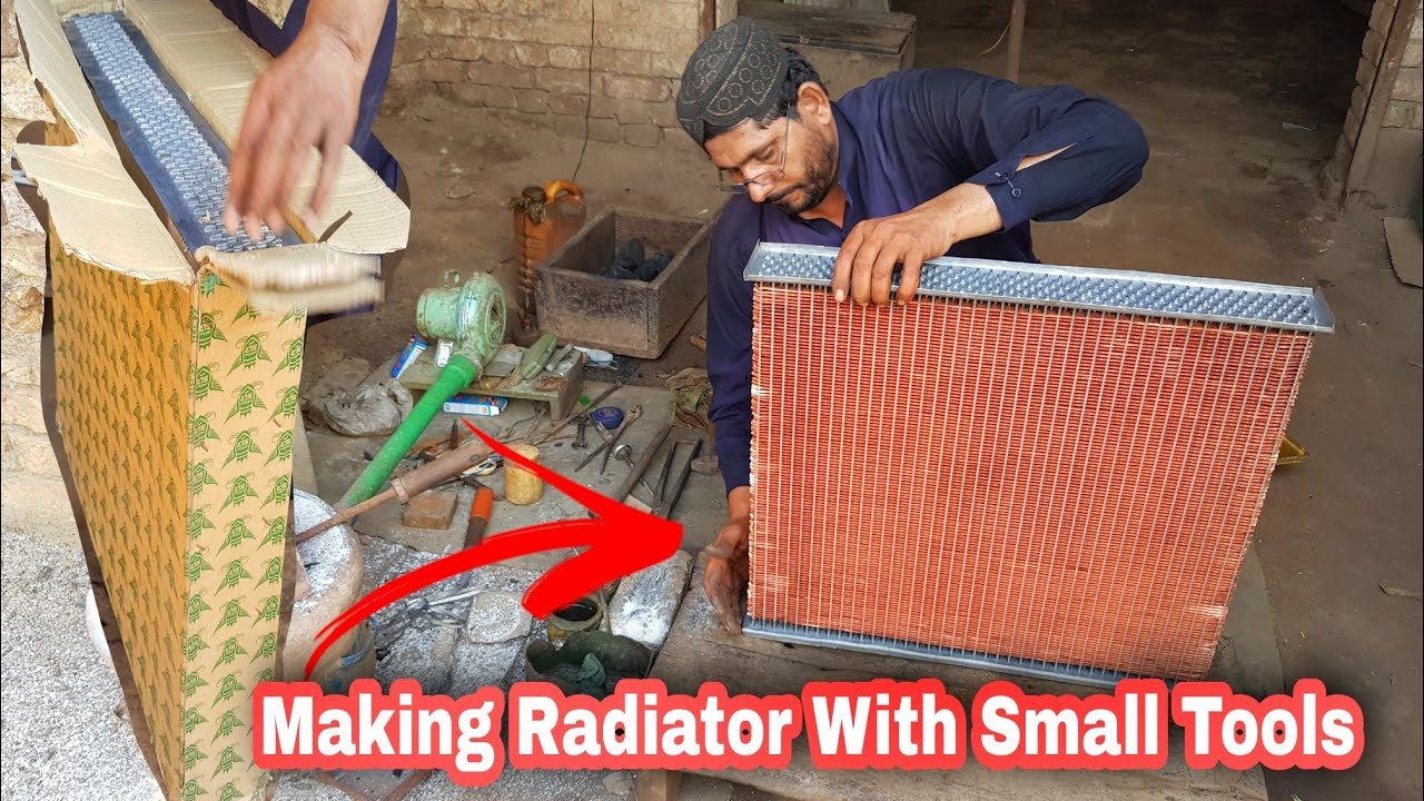 Amazing Technique Of fixing A radiator |How to built a Radiator With Small tools