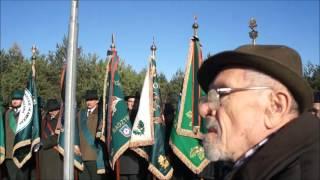 Hubertus 2016 w Malużynie   uroczystość przy grobach poległych polskich żołnierzy