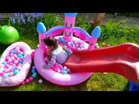 The Ball Pit Show / Playing with Baby Doll / Learning Colors / HELLO KITTY inflatable boat