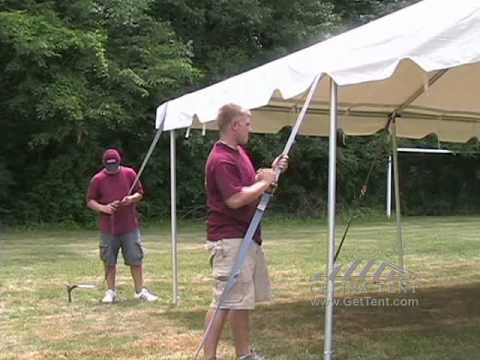 & Celina Frame Tent 20 x 20 Installation - YouTube