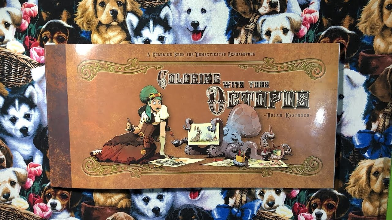 coloring with your octopus by brian kesinger flip through review