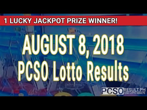 PCSO Lotto Results Today August 8, 2018 (6/55, 6/45, 4D