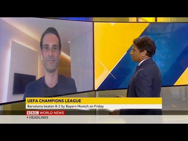 Adriano on BBC World News (15/08/20)