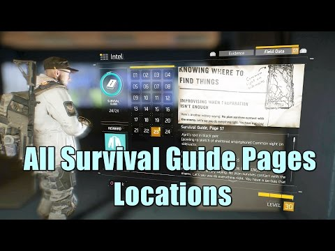 The Division All Survival Guide Pages Locations l Intel Collectible Survivalist Trophy / Achievement